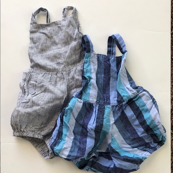 7d7615b4cd mabo Other - Mabo Kids Linen Rompers Bundle SZ 2-3